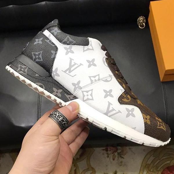 LouisVuittonLV Lässige Herren-Schuhe Run Away Sneaker Weinlese Luxuxentwurf Chaussures gießen hommes mit Box Mode Herrenschuhe Breatha
