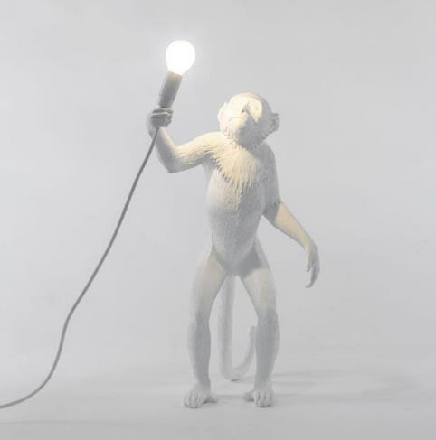 scimmia lampada da terra bianca