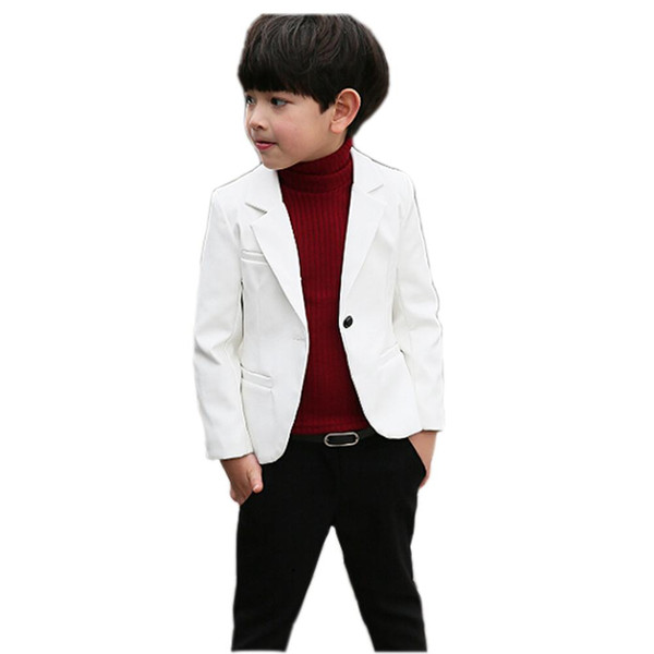 classic boy leather jacket solid gentleman style coat jacket for 2-10years boys kids children fashion jacket clothing