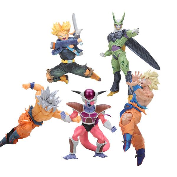 20cm Dragon Ball Z action gifures BWFC Super saiyan DBZ Sculture son goku PVC Action Figure Kid Dolls model Toys 20cm Dragon