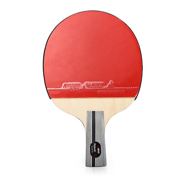 BOER Outdoor 1 Star Table Tennis Goma Ping Pong Raqueta Paddle con bolsa de almacenamiento