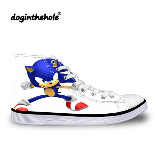 Children/'s Shoes Sneakers Sonic The Hedgehog Casual Flats Breath Lace-up Shoes