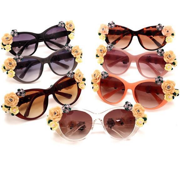 2019 Женские солнцезащитные очки элегантный темперамент Ретро стерео очки Rose Flower Beach Resort Пляжные солнцезащитные очки солнцезащитные очки