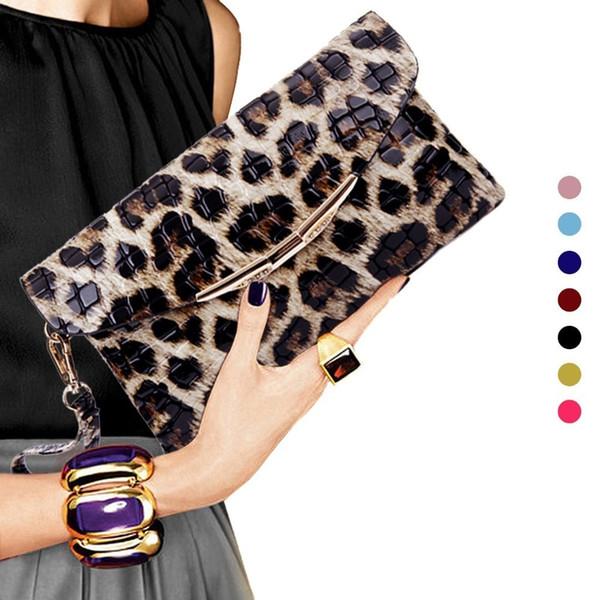 Женщина Вечерняя сумочка Леопардовый кошелек Свадьба Банкетная сумка через плечо Модные вечерние клатчи Кошелек Pt1100