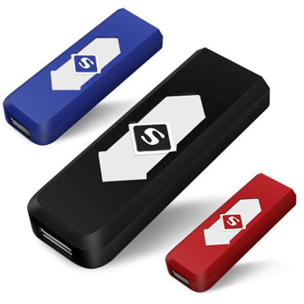top popular whole sale USB lighter Electronic Rechargeable Flameless Cigar Cigarette Lighter LED Windproof Money detector USB lighter 2021
