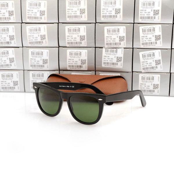 High Quality sunglasses Green Lens glasses High Quality Plank black Sunglasses glass Lens Sun glasses Brand Designer glasses with cases boxs