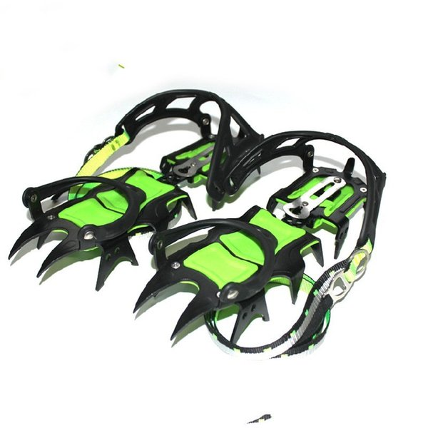 Brs-S1 14 Teeth Crampon Ice Climbing Claws Shoe Covers Outdoors Mountaineering Non Slip Professional Skiing Hiking 181ayf1
