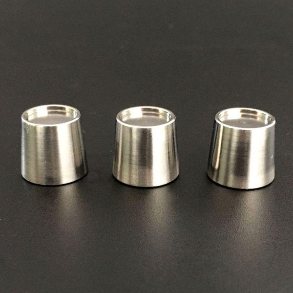 Nuove ciotole per inserti in titanio al quarzo Ciotola per spuntini in Puffco con fondo piano per unghie termiche per ciotole di Puffco al quarzo spessa