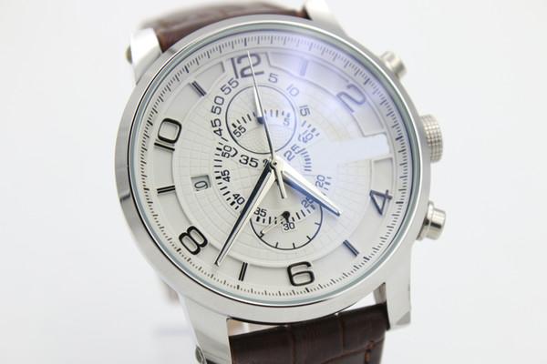 جديد IW Royal Fashion Prince 1950 Professional Pilot 01 Brown Belt 1887 Gift Gentlemen Watch التوصيل المجاني