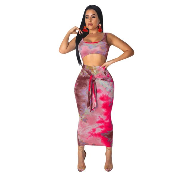 Sexy Two Piece Set 2 Piece Set Women Two Outfits Crop Top And Skirt Bodycon Matching Sets Autumn 2019 New