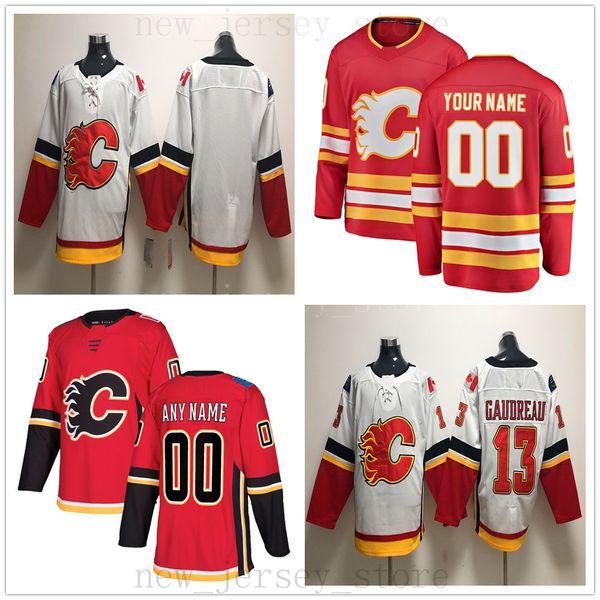 Custom Calgary Flames Hockey Jersey 2019 New 27 Austin Czarnik 67 Michael Frolik 24 Travis Hamonic 55 Noah Hanifin 21 Garnet Hathaway Brodie