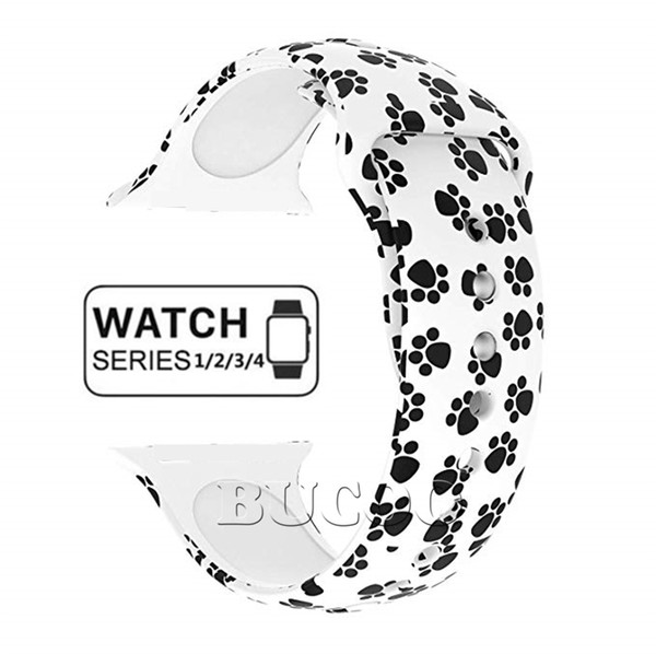 NEW 29 Colors Sport Bands For Apple Watch Band Series 4 40mm 44mm Foral Pattern Soft Silicone Strap For iWatch 38mm 42mm Series 3 2 1