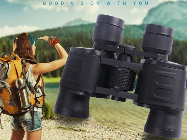 Classique Binocular Telescope 8X40 HD Blue Film Coated optique Len 96M / 1000M pour visiter la ville Voyage en plein air, Chasse, Pêche