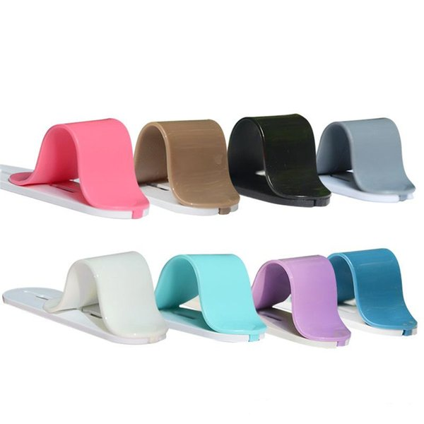 Mini Cell Phone Holder Stand and Finger Grip for iPhone & Android and More Smartphones with Reusable Sticky Gel Pad