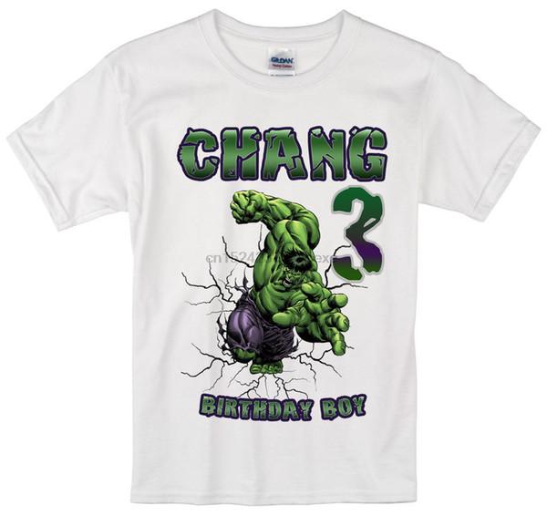 Incredible Hulk birthday shirt Personalized Custom Name Age Kids T-Shirt