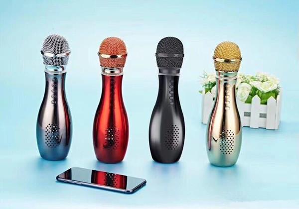 Handheld-Mikrofon Bluetooth-Lautsprecher Q007 Bowling Karaoke-Karte Audio-Player-Familie Mikrofon KTV Music Subwoofer MIC Singing Speaker