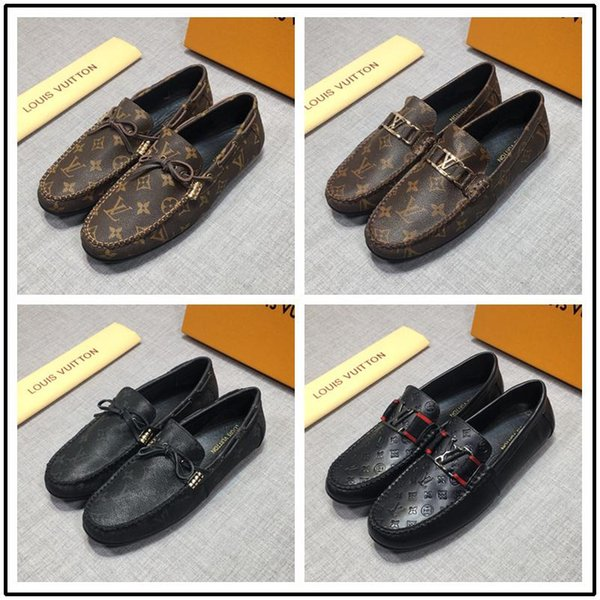 İtalya toptan En Kaliteli Erkek Loafer'lar Erkekler için Hakiki Deri ayakkabı İş Ayakkabıları Beyler elbise tasarımcılar i ...