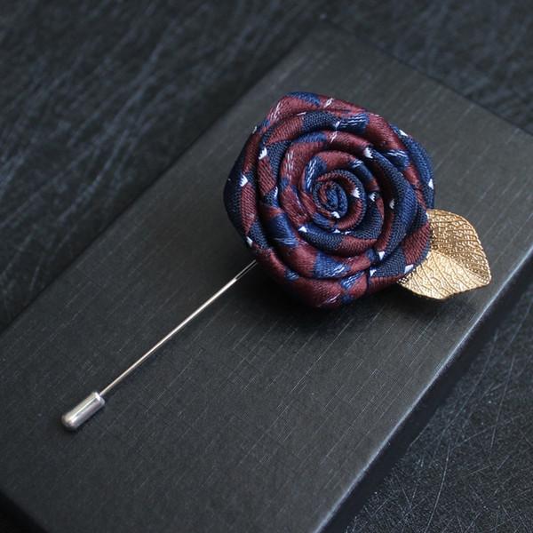 i-Remiel Ottimizzata lungo ago Spille e PINS per Suit Camicia Nastro Rosa Spilla ragazze coreane Corpetto Pocket asciugamani Collar Uomo
