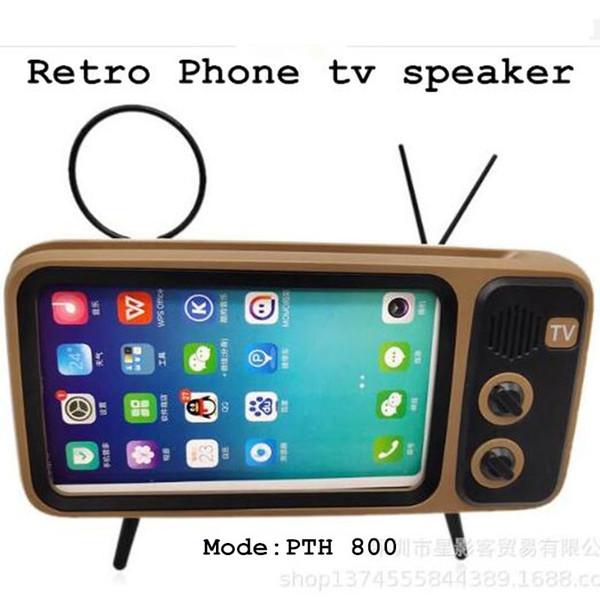 Altoparlante all'ingrosso Pth-800 Bluetooth speaker retrò TV altoparlante del telefono mobile mini suono