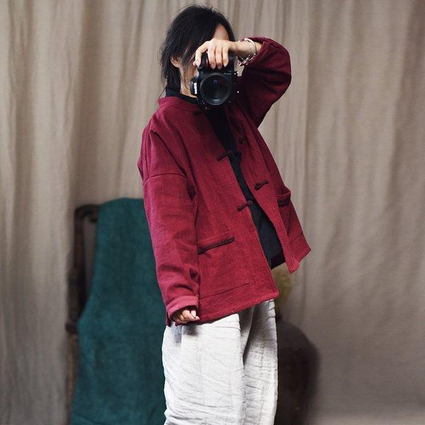 Großhandel Frauen Lose Einfarbig Vintage Jacken Damen Lose Frühling Herbst Mantel Oberbekleidung Weiblichen Mantel 2019 Retro Topcoat Tops Von Tuhua,