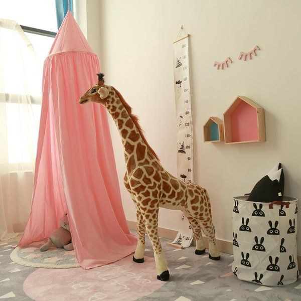 Baumwolle baby mädchen / jungen bett moskito netze ins bett net kinderzimmer dome vorhang zelt 240cm r1122