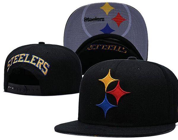 Cappelli regolabili all'ingrosso Pittsburgh Snapback PIT Cappelli da basket da uomo per esterno estivo Visiera da sole Casquette piatta Cappello da calcio economico da donna 07