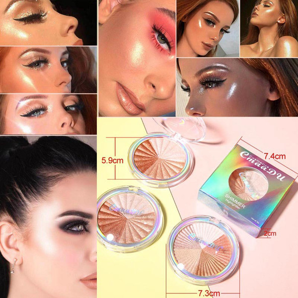 Cmaadu Glow Kit Highlighter Brighten Makeup Shimmer Powder Palette Base Illuminator Long Lasting Face Contour Golden Bronzer