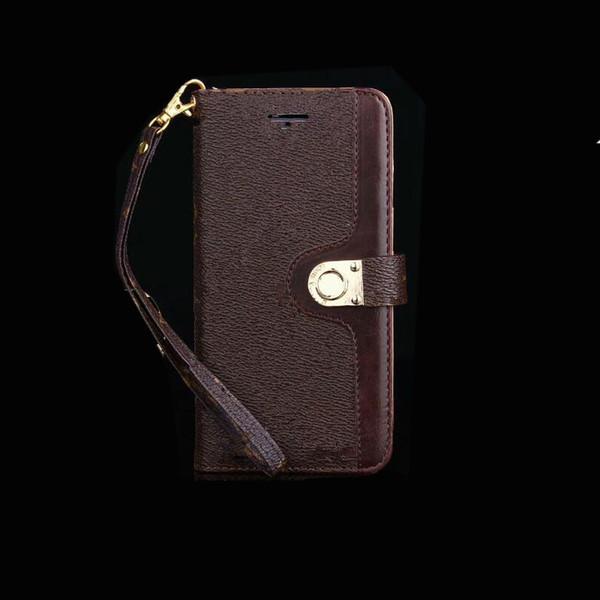 Designer de luxo carteira de couro do telefone iPhone para o caso do 11 Pro Max X XR XS Max 8 7 Plus S9 S10 Nota 9 10 11 mais Titular Shell casco de Cordas