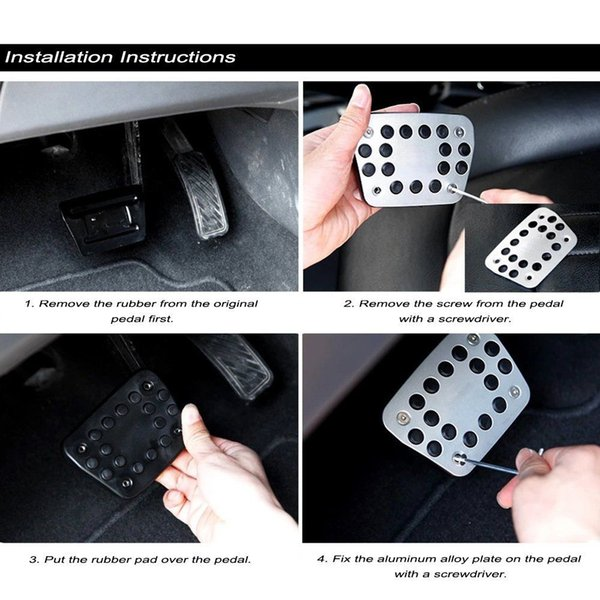 MqbY Car Brake Throttle Pedal Automatic Manual Foot Pedal