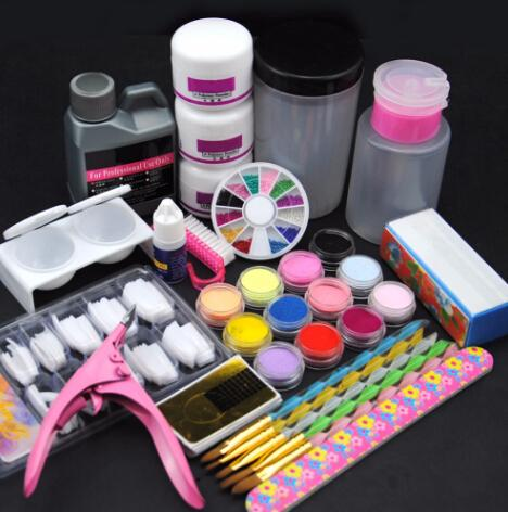 Acrylic Nail Set Acrylic All For Manicure Pedicure Tools Set And Kit 3pcs Acrylic Powder Nail Glitter Nail Art