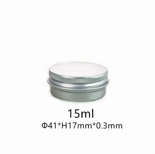 New 1/2 oz Aluminum Tin Jars Screw Cap Round Storing Can Container Cosmetic Metal Tins Empty Container 15ml