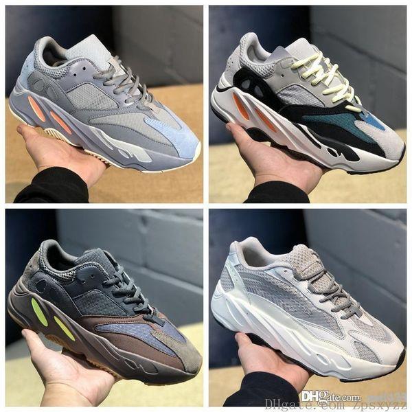 2019 Static 700 V2 Wave Runner Mauve Inertia Scarpe da corsa Uomo Donna Solid Grey B75571 Sports Designer Athletics Sneakers Us 5-12