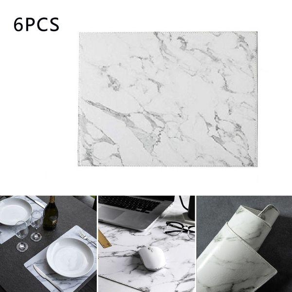 Hifuar streifen pu tischset küche geschirr pad diy hochzeit dekorative matte tisch marmor muster geschirr untersetzer