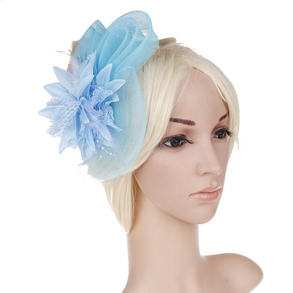 New Flower Yarn Kentucky Derby Caps Women Sun Hat Summer Wide Brim Hat For Women Ladies Party