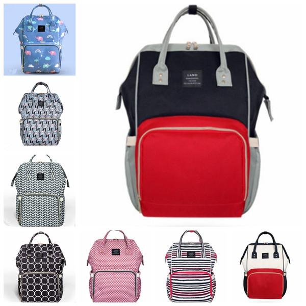 Land Diaper Backpacks Brand Mummy Bag Multi-function Baby Backpacks Waterproof Outdoor Diaper Bags Travel Nappy Handbags 11 Designs YW2827