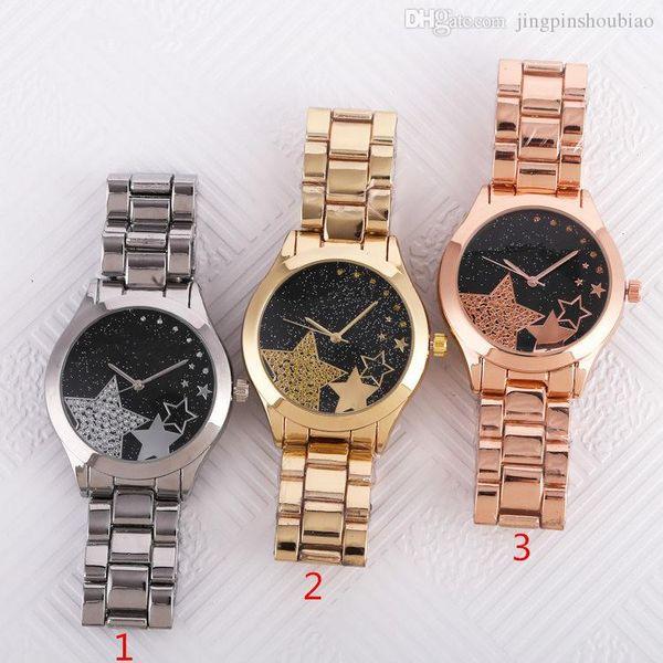 Relogios femininos 36 millimetri rosa Orologi delle donne della vigilanza di signore pieno di diamanti vestito di lusso stilista braccialetto rosa orologio da polso in oro