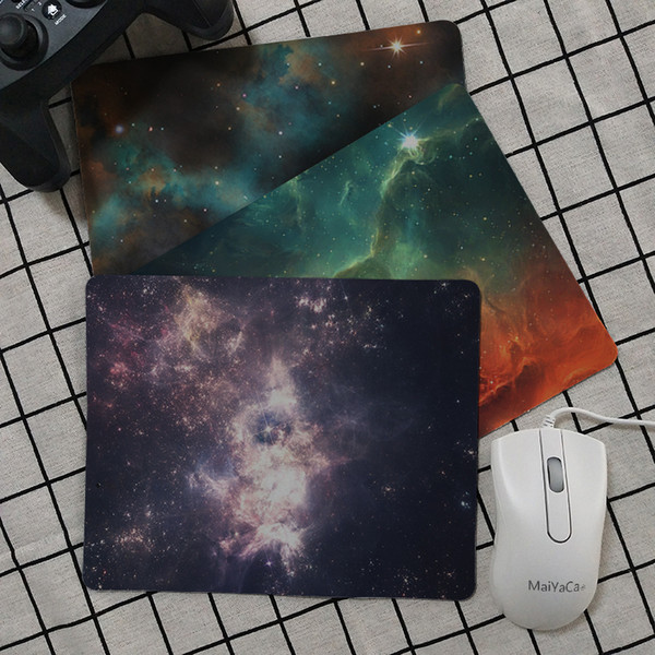 Maiya High Quality Outer space stars nebulae Durable Rubber Mouse Mat Pad Smooth Writing Pad Desktops Mate gaming mouse