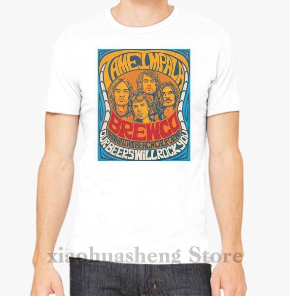 Tame Impala Футболка мужская футболка, топы, футболка, 100% хлопок, с принтом, футболка с коротким рукавом