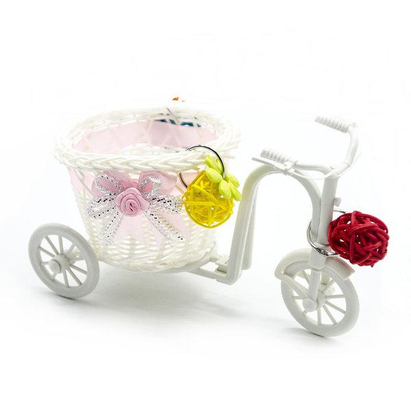 Middle And Small Size Parrot Toys Small Garden Cart Sepaktakraw Toys Vehicle Pen Container Photography Prop Shopping Basket