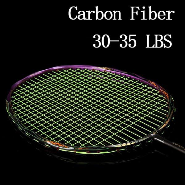 Racchetta per racchetta da badminton professionale in fibra di carbonio 5U Racchetta sportiva Tipo offensivo Racchette leggera leggera Stringel Speed Z