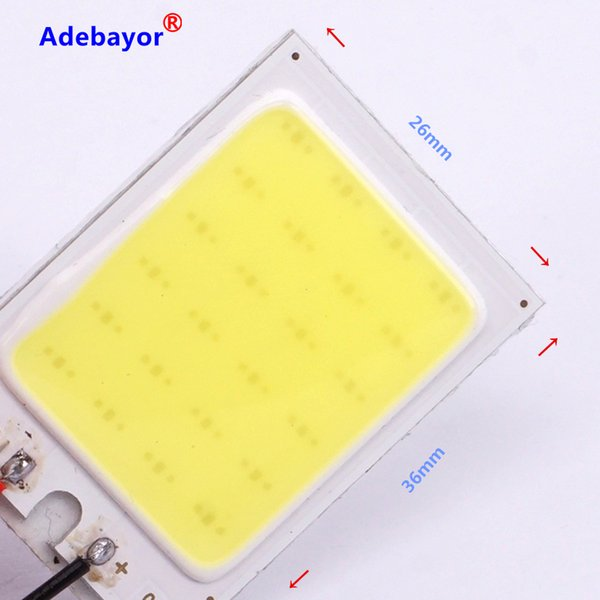T10 501 W5W BA9S Festoon Dome Interior 36 LED COB Adapter Panel Light Bulb DC HV