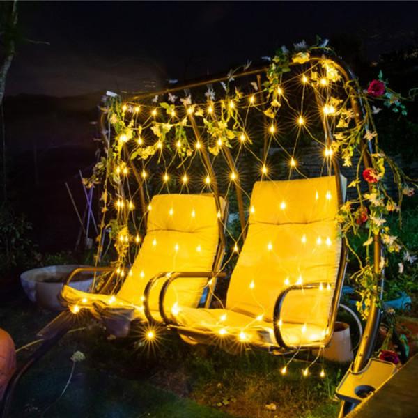 2 * 3 m LED Pêche Net Mesh Fée Cordon Net Lights Plafond Fête De Noël De Mariage Décoration Extérieure LED lumière 110 V-220 V US EU AU UK Plug