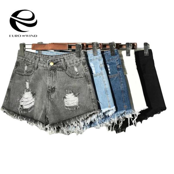 Plus Size S-6XL 2019 Das Mulheres Sexy Calça Jeans Shorts Verão Bermuda Shorts Mini Denim Curto Senhoras Casuais Jean Black Lady Hotpants