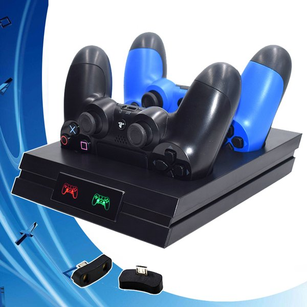 PS 4 Pro Slim PS4 Controller PS4 Accessories Gamepad Charger Wireless Joystick Charging Dock Station for Sony Dualshock 4