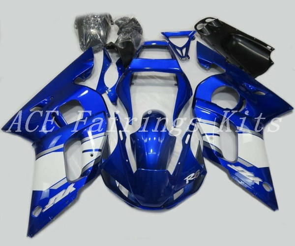 High quality New ABS motorcycle fairings fit for YAMAHA YZF R6 1998 1999 2000 2001 2002 YZF R6 98 99 00 01 02 fairing kits custom blue white