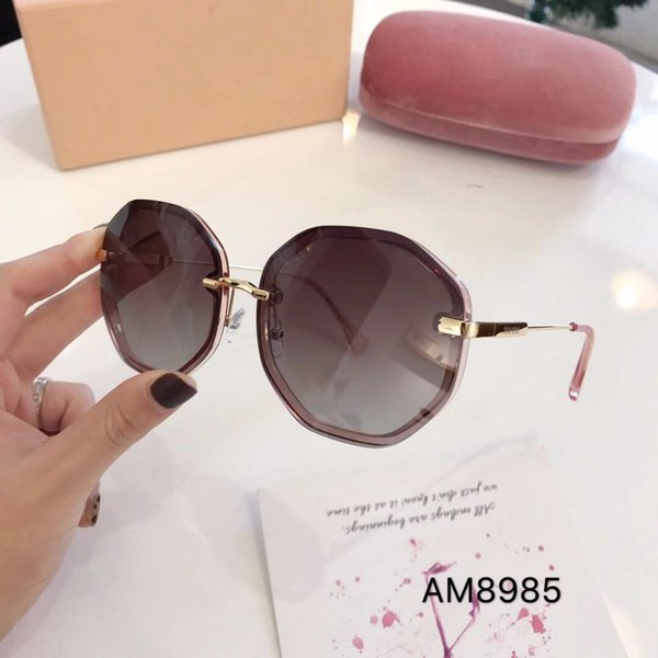 8985 New fashion popular designer sunglasses small bee pilot frame UV lens top quality steampunk outdoor style