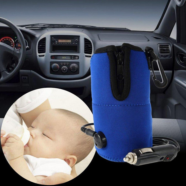 Car Baby Bottle Warmer Heater Cover 12V DC Portable Food Milk water Travel Cups Covers Safty Bottle Heaters 50pcs GGA1779