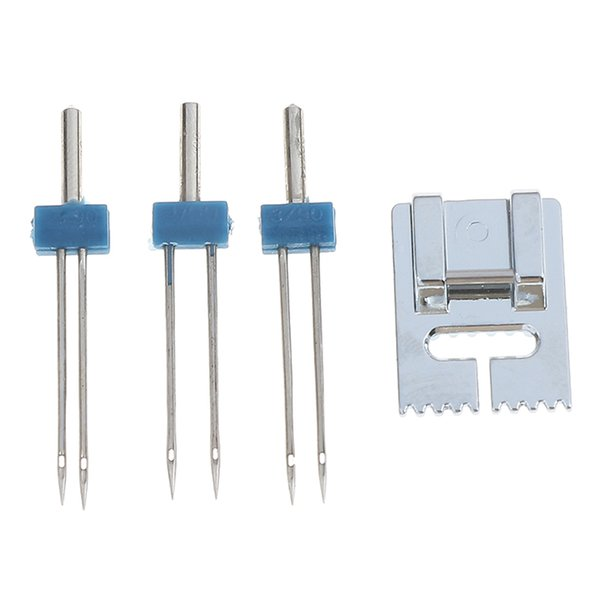 Groove Pintuck Foot With 3pcs 3 sizes Twin Needles for Sewing Machine