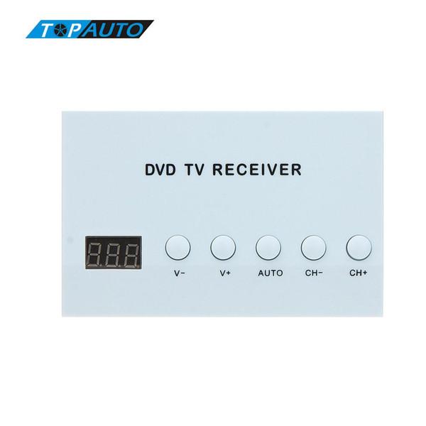 Sintonizzatore TV analogico TV satellitare con ricevitore per auto digitale Freeshipping. Forte scatola di segnale con antenna