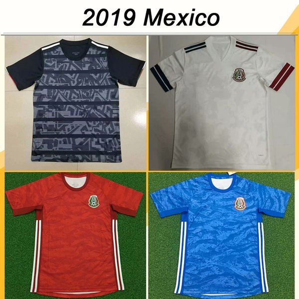 2019 Mexique Chicharito Hommes Football Maillots H.LOZANO A.GUARDADO Domicile Extérieur Gardien de but de football Chemises LOZANO R.JIMENEZ H.HERRERA Uniformes